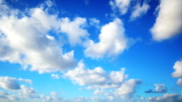 Timelapse Aerial Shot Of Clouds Rolling Over Blue Sky