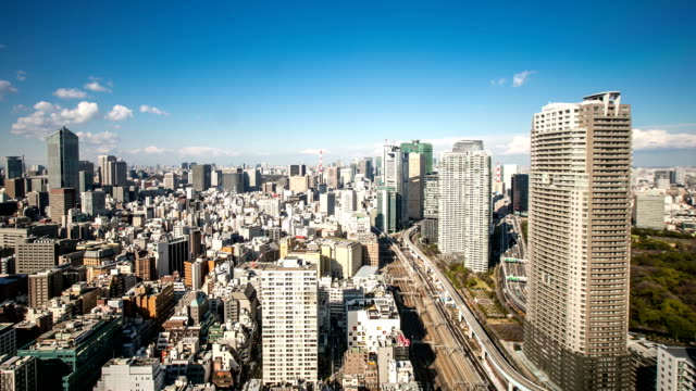 hd time-lapse: aerial tokyo cityscape - kanto region stock videos and b-roll footage