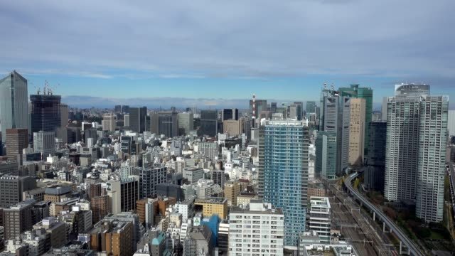 4k time-lapse: aerial tokyo skyline - roppongi stock videos and b-roll footage