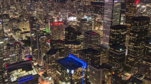 4K Time-Lapse: Aerial Toronto Downtown