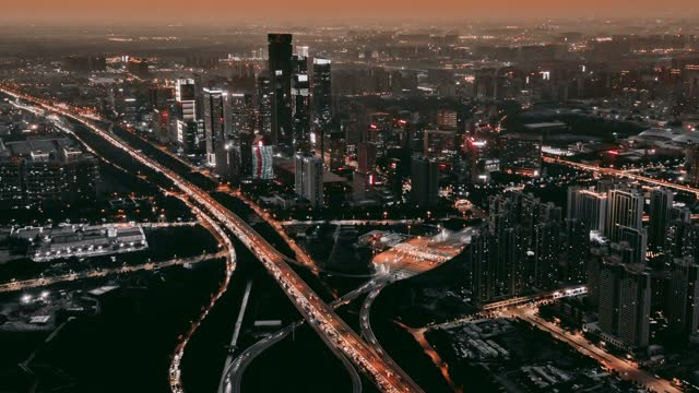 timelapse aerial view of  city traffic at sunset - city of westminster london stock videos & royalty-free footage