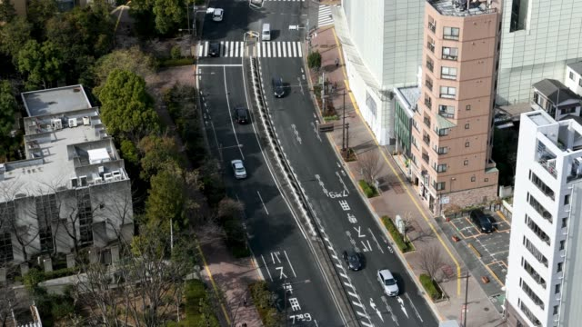 time-lapse: aerial view of kasuga street tokyo japan - roppongi stock videos and b-roll footage