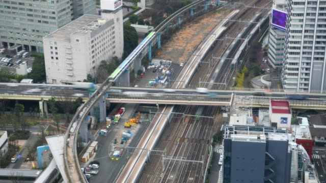time-lapse: aerial view of tokyo cityscape - roppongi stock videos and b-roll footage