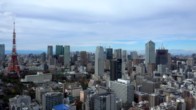 4k time-lapse: aerial view tokyo cityscape japan - roppongi stock videos and b-roll footage
