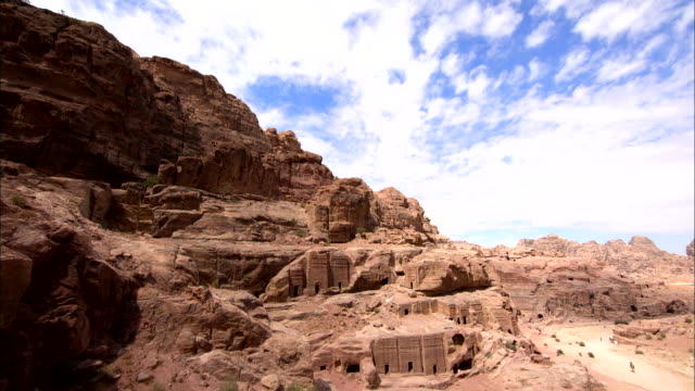 vídeos de stock e filmes b-roll de time-lapse ancient city of petra - petra