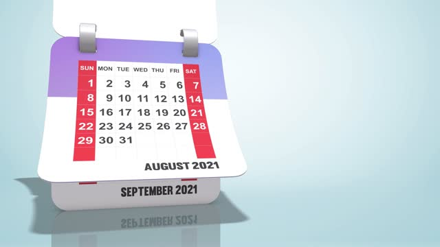 timelapse animation of calendar 2021 year, copy space area - week stock videos & royalty-free footage