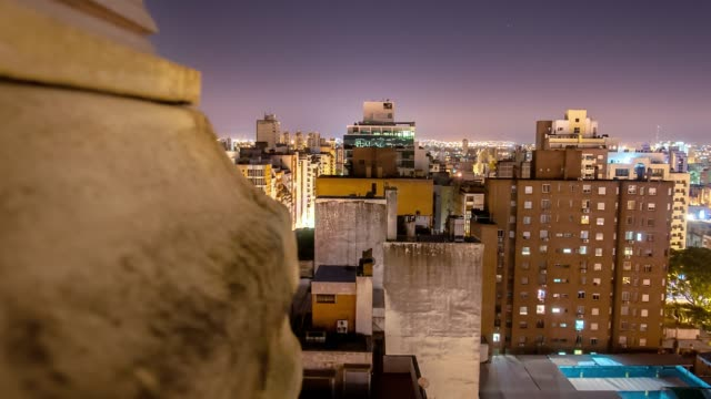 timelapse argentina córdoba city at night moving timelapse - argentina stock videos & royalty-free footage