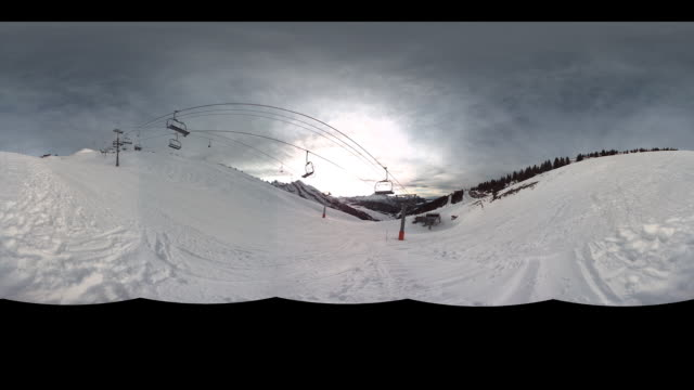 Timelapse at a skilift