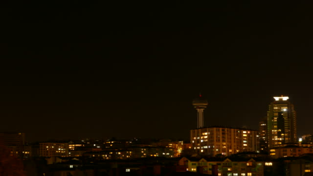 timelapse at ankara with atakule day and night - ankara stock videos and b-roll footage