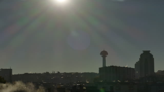 Timelapse at Ankara with Atakule day and night