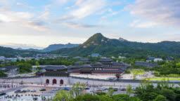 Timelapse at Gyeongbokgung Palace in Seoul,South Korea