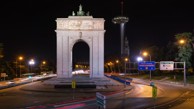 Timelapse at night of Moncloa