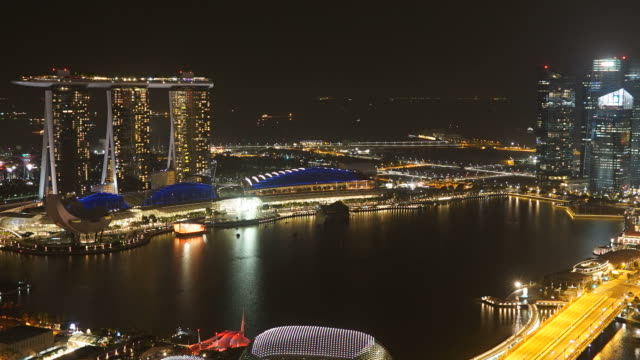 Timelapse in singapore city