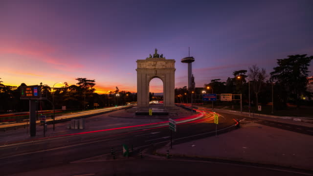 Timelapse at Sunset of Moncloa