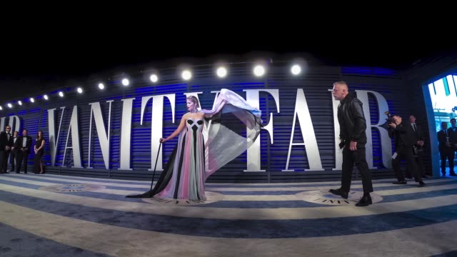 views timelapse at the 2019 vanity fair oscar party hosted by radhika jones at wallis annenberg center for the performing arts on february 24 2019 in... - vanity fair video stock e b–roll