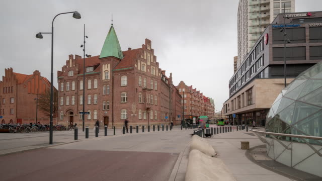 Time-lapse at Triangeln Station in Malmo Sweden