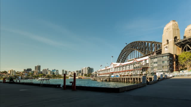 Timelapse at Walsh Bay Sydney Harbour with the Harbour Bridge in 4K