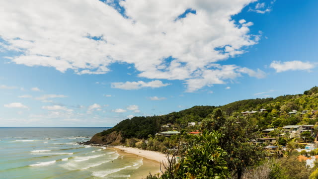 4K timelapse at Wategos beach, Byron Bay, New South Wales, Australia