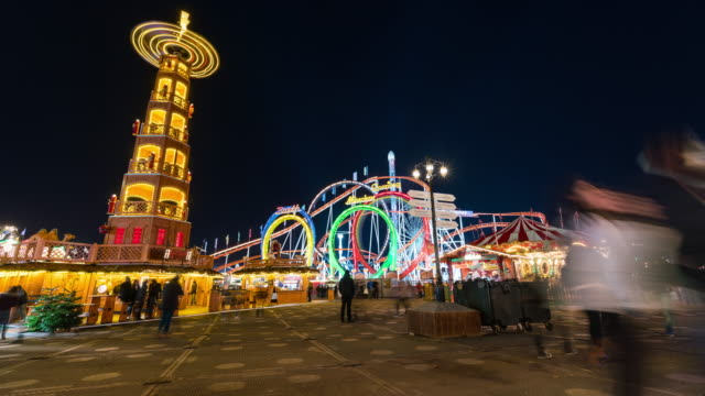 london: timelapse at winter wonderland - hyde park london stock videos & royalty-free footage