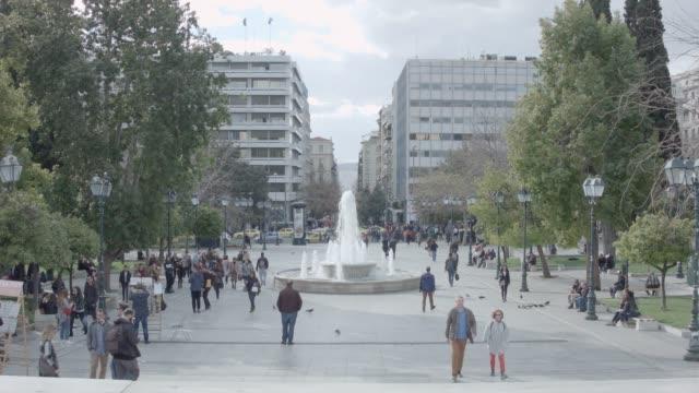Timelapse - Athens 4K RAW footage - people at Syntagma square, Plaka, Ermou Street, Monastiraki