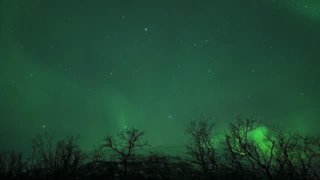 timelapse aurora northern lights - aurora polaris stock videos & royalty-free footage