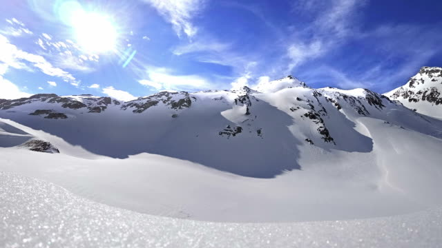 timelapse: austrian alps in kuehtai ski resort - avalanche stock videos and b-roll footage