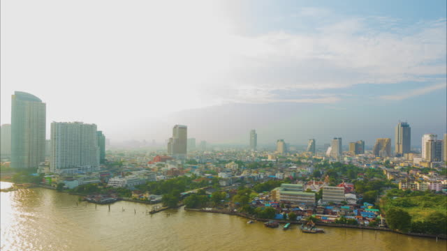 4k - time-lapse : beautiful architecture in bangkok city around chao phraya river - non us location stock videos & royalty-free footage