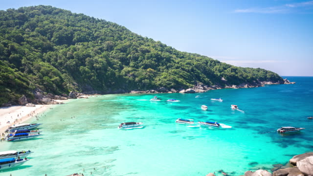 4K Time-lapse: Beautiful Similan andaman sea Phuket Thailand