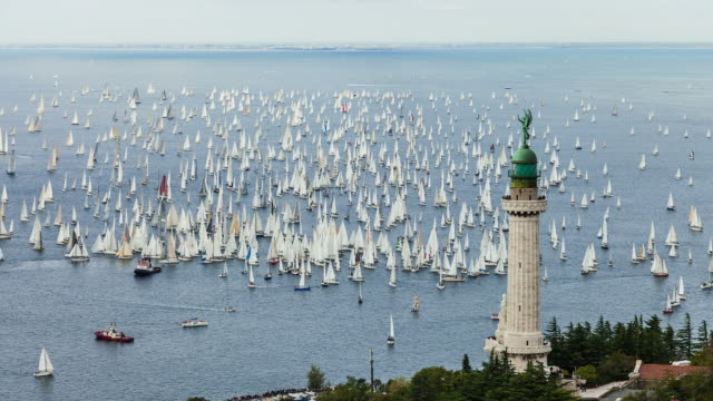 HD Timelapse: Biggest sailing regatta on the world Barcolana