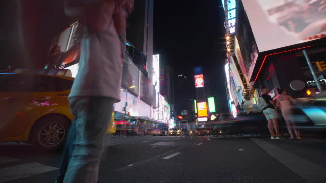 time-lapse: billboards in the city in new york, ny - fast motion stock videos & royalty-free footage