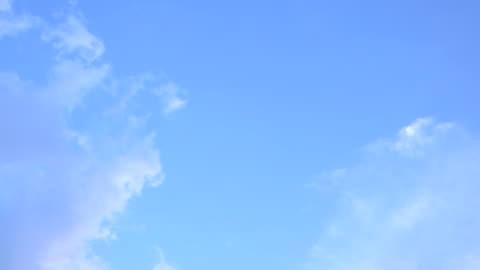 timelapse blue sky - sky only stock videos & royalty-free footage