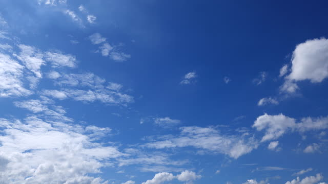 timelapse blue sky - cloud sky stock videos & royalty-free footage