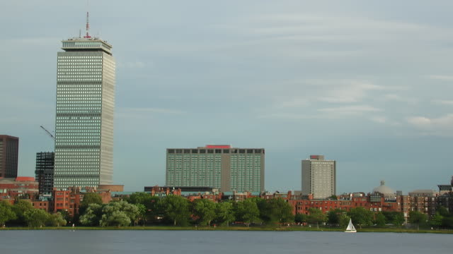 timelapse boston and charles river day to night - river charles stock videos & royalty-free footage