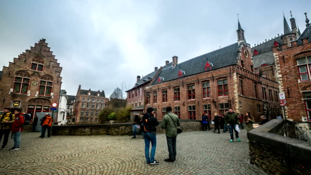 HD time-lapse: Bruges city hall Belgium