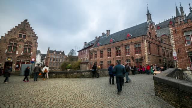 time-lapse: Bruges city hall Belgium