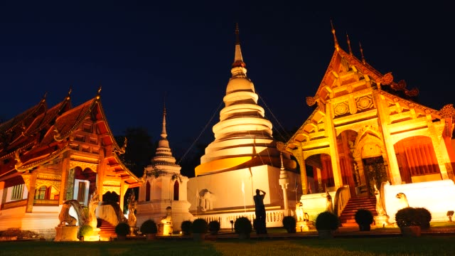 time-lapse: buddhist temple at twilight scene - full hd format stock videos & royalty-free footage