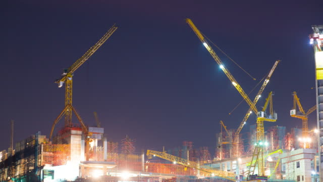 4K Timelapse: Building with Crane.