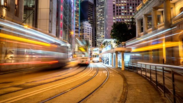 4K Timelapse - Bus and Tram Traffic in Hong Kong Central Station