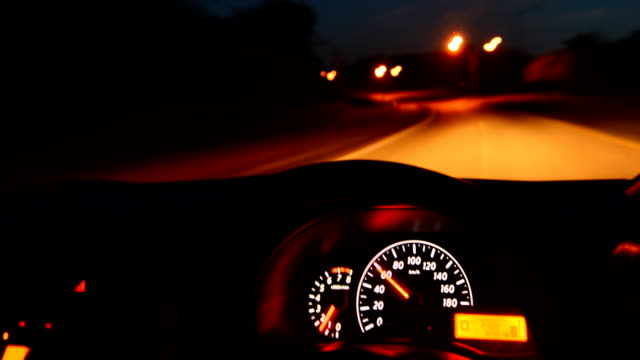 time-lapse, car driving at night - speedometer stock videos & royalty-free footage