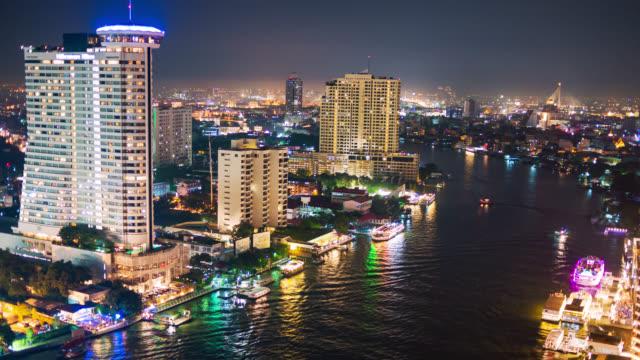 Timelapse Chaopraya river view, Bangkok, Thailand
