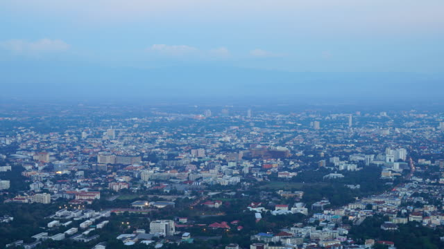 timelapse Chiang Mai cityscape in Thailand