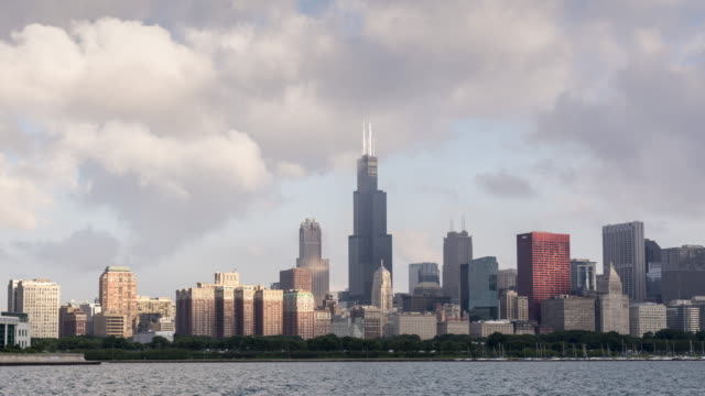 4k time-lapse: chicago - willis tower stock videos and b-roll footage