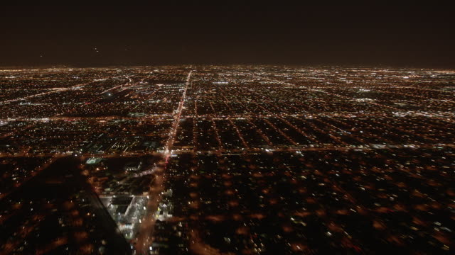 Timelapse: City of Los Angeles at night.