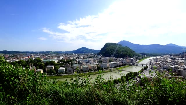 Time-lapse: City of Salzburg, Austria, in summer.