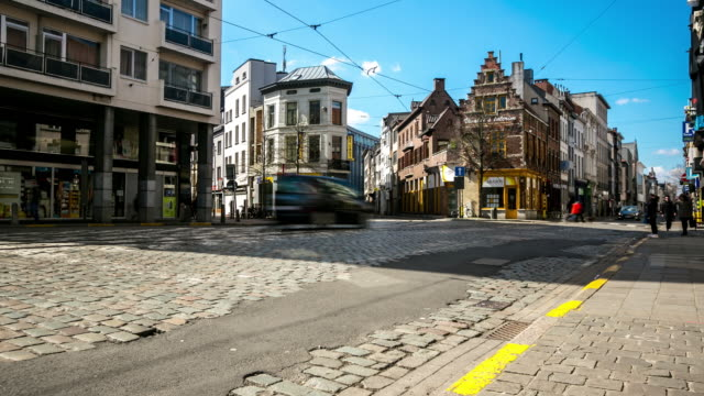 Time-lapse: City Pedestrian at Antwerp old town Belgium