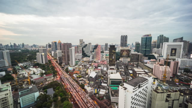 Timelapse cityscape traffic
