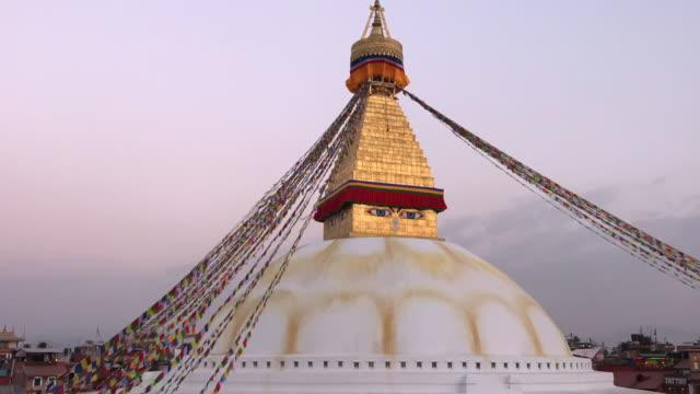 HD Timelapse clip of the Bodhanath Stupa, Nepal.