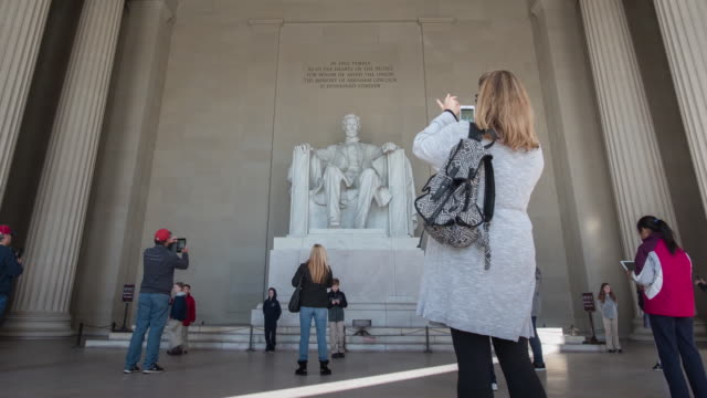 vídeos y material grabado en eventos de stock de timelapse clips of the lincoln memorial in washington dc usa on tuesday february 27 2018 - neoclásico
