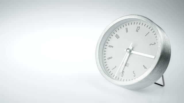 Timelapse Clock on white background.
