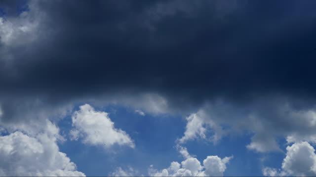 Timelapse Wolken Cumulonimbus vor dem Sturm